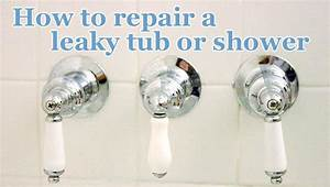 How to repair a leaky shower or tub faucet pretty handy girl for How to fix a leaking bathroom tap