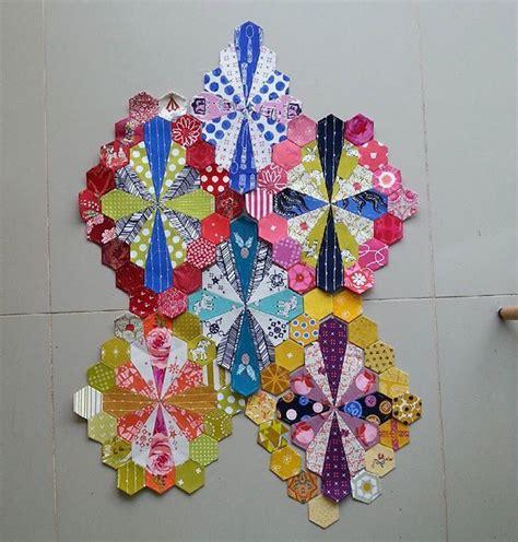 gehaakte bloemen zeshoek deken 25 beste idee 235 n over zeshoek quilten op pinterest