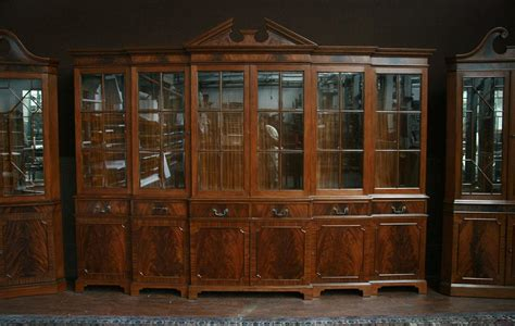 ebay uk china cabinets large mahogany china cabinet six door breakfront ebay
