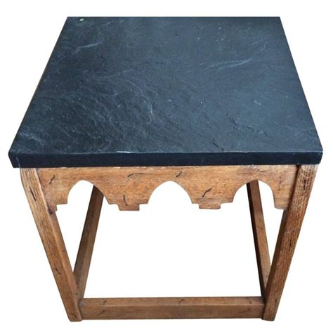 slate top side table at 1stdibs