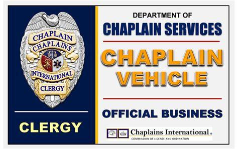 professional chaplains car plaque