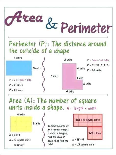 area  perimeter word problems worksheets  grade
