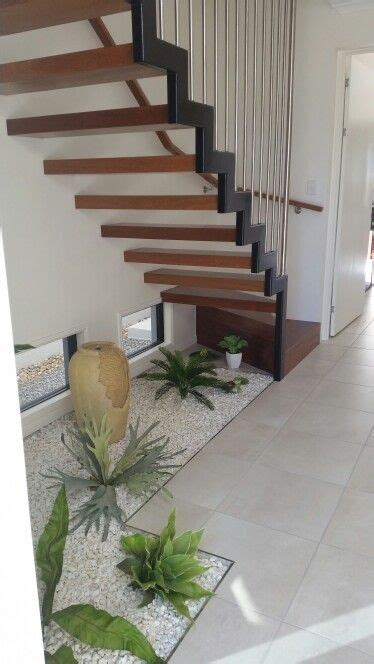 zen style garden  stairs build  house sob
