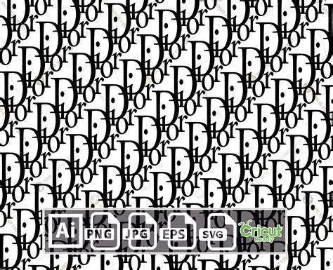 dior monogram inspired logo vector design print  cut  quality vector files bundle ai