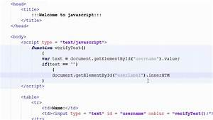 Javascript tutorials for beginners 7 document for Javascript input document