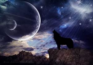 On White: Wolf Howling at the Moon [EXPLORED] by Chaos2k ...