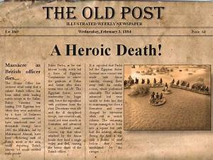 First in peace first in war the furstenburg the for Old fashioned newspaper template free