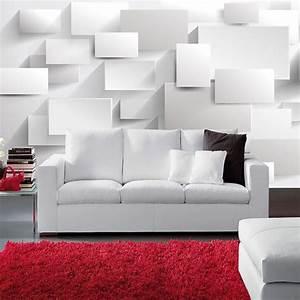 Modern 3D Large Mural Wallpaper Living Room Sofa Box 3D ...