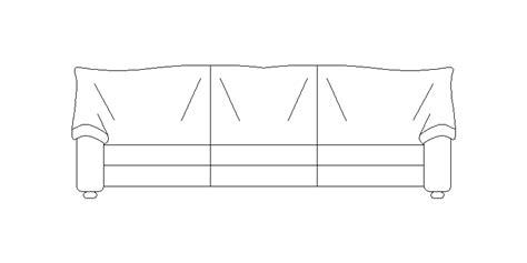sofa 3 plazas dwg bloques autocad gratis de sof 225 de 3 plazas visto en alzado