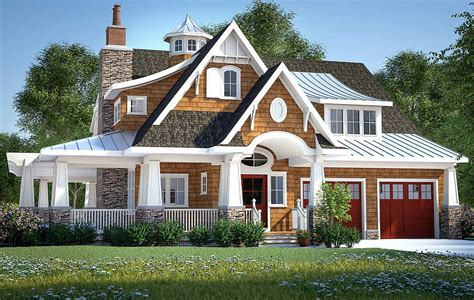 gorgeous shingle style home plan  architectural