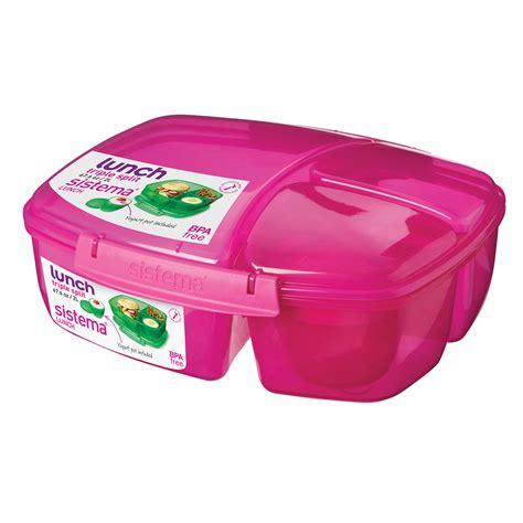 sistema triple split lunch box home store