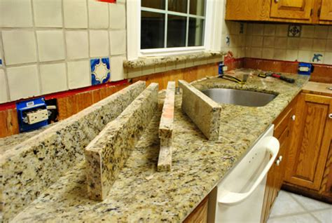 removing kitchen tile backsplash kitchen reno removing our sink our granite counters
