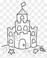 Sand Castle Coloring Clipart Sandcastle Drawing Clipartmax sketch template