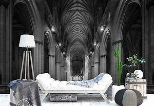 Gothic Cathedral Hallway Arches Photo Wallpaper Wall Mural ...