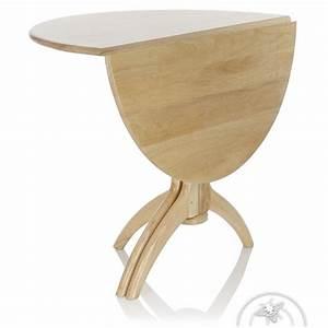 table de salle a manger pliante ronde en bois naturel lund With table salle a manger pliante