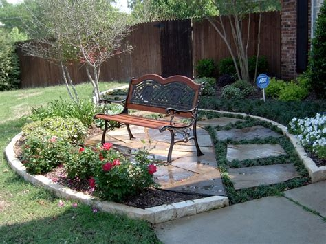 front yard landscape ideas traditional patio dallas