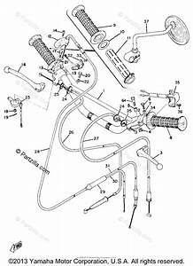 Yamaha Motorcycle 1970 Oem Parts Diagram For Handle