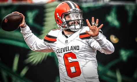 browns news baker mayfield fined   lewd gesture
