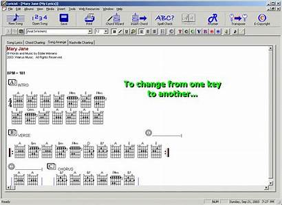 Chord Key Song Writing Transposition