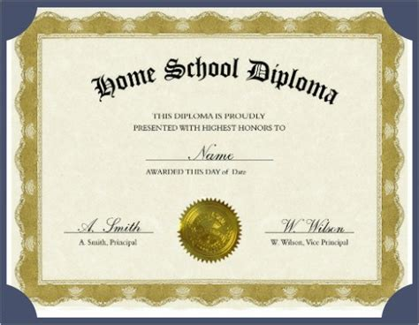 homeschool diploma diploma homeschool diplomas