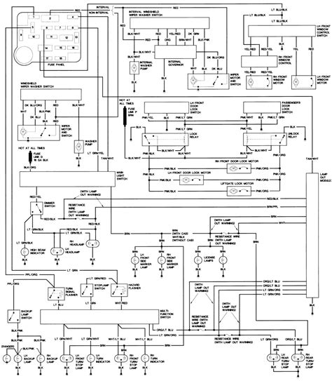 1993 Dodge Truck Dash Wiring Diagram by 1990 Ford Steering Column Diagram Repair Guides Wiring