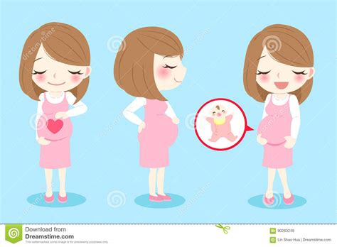 cartoon picture  woman giving birth picture