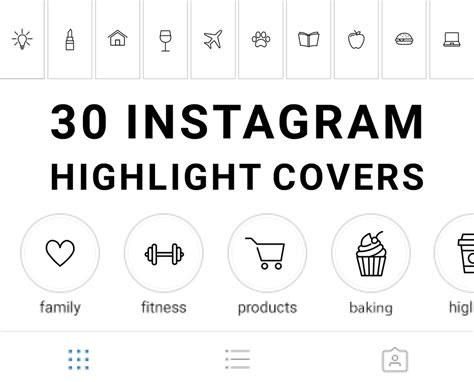 Here come another instagram highlight icons with the great coffee design! 30 Instagram Story Highlight Icons - White and Black - Mimosa Designs