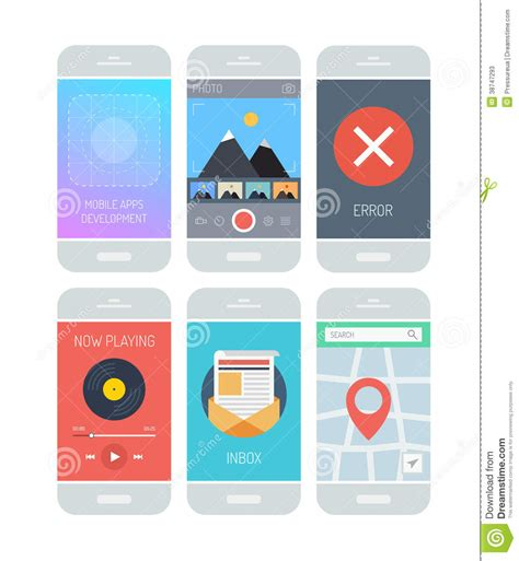 the state of the modern smartphone user interface tested smartphone application interface elements stock photos