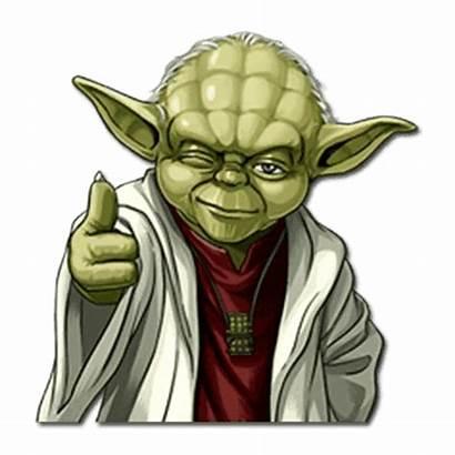 Yoda Sticker Wars Star Transparent Stickers Telegram