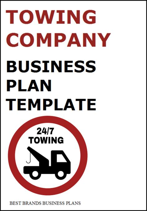Towing business plan template costumepartyrun road map plan template book covers flashek Choice Image