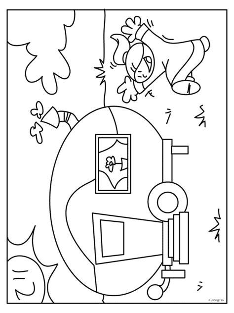 Caravan Kleurplaat by Kleurplaat Keren Met Een Caravan Kleurplaten Nl