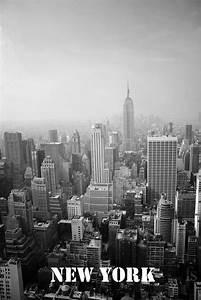 city, new york, black and white