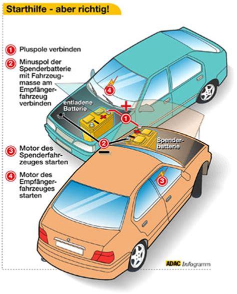 adac siege auto richtige starthilfe