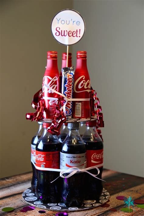 diy soda cake summer gift idea