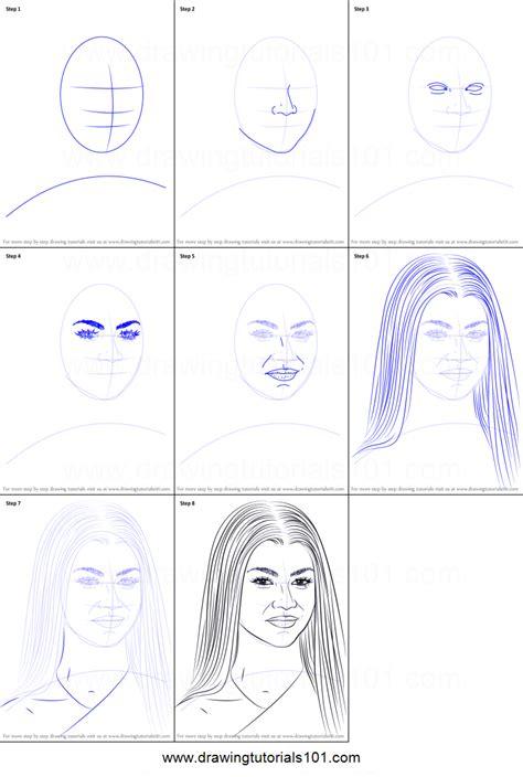 draw zendaya printable step  step drawing sheet drawingtutorialscom