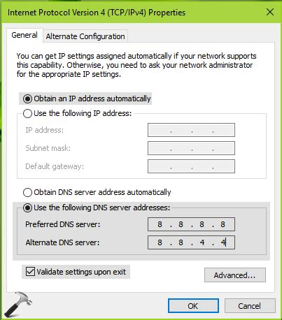 fix your dns server might be unavailable in windows 10