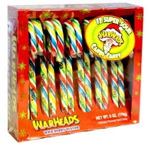 Warhead Super Sour Candy Canes 12ct