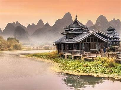 Near Wallpapers Traditional Chinese River Yangshuo Park