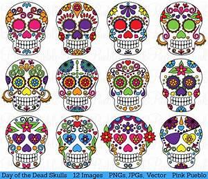 Day of the Dead Skull Clipart Clip Art Sugar Skulls Clipart