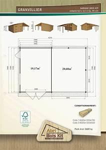 Dimension Garage 1 Voiture : garage en kit avec l 39 abri voiture granvillier 44mm ~ Dailycaller-alerts.com Idées de Décoration