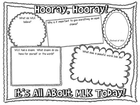 17 best images about martin luther king jr worksheet on