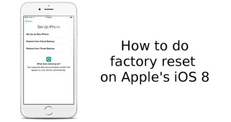 how to factory reset iphone 6 plus how to factory reset apple iphone 6 and iphone 6 plus ios