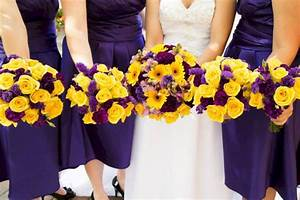 Wedding Decoration Yellow And Purple Choice Image