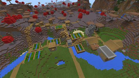 pe  mushroom village  blacksmith minecraft seeds
