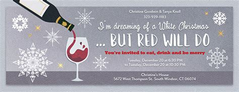 christmas white elephant ugly sweater party invitations