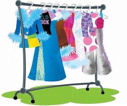 Clothes Rack Clipart Clip Racks Drawing Clothing