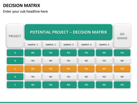 powerpoint decision matrix sketchbubble