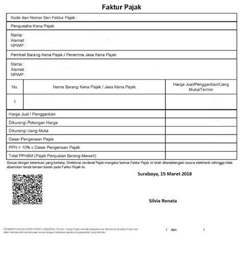 great contoh laporan faktur pajak 78 untuk ide format invoice pada contoh laporan faktur