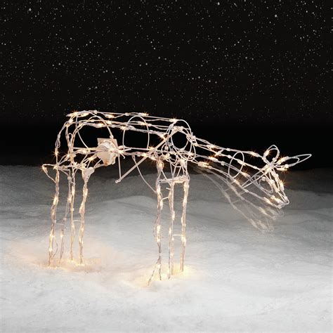 trim  home christmas animated lighted grazing deer
