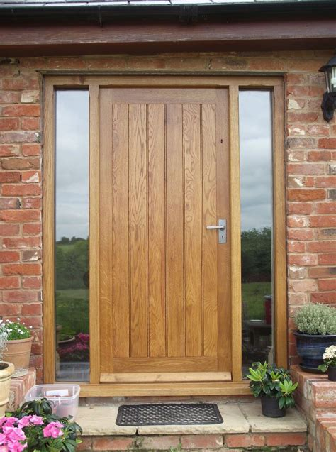 Wood Front Door With Door by Solid Oak Front Door With Side Lights Oak Door Bespoke